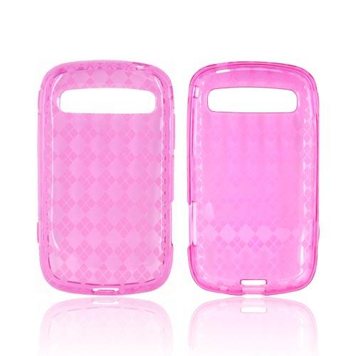 Samsung Rookie R720 Crystal Silicone Case - Argyle Hot Pink