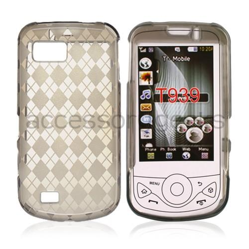 Samsung Behold 2 T939 Crystal Silicone Case - Smoke Argyle Diamonds