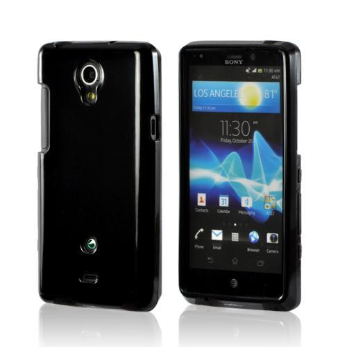 Black (Argyle Interior) Crystal Silicone Case for Sony Xperia TL