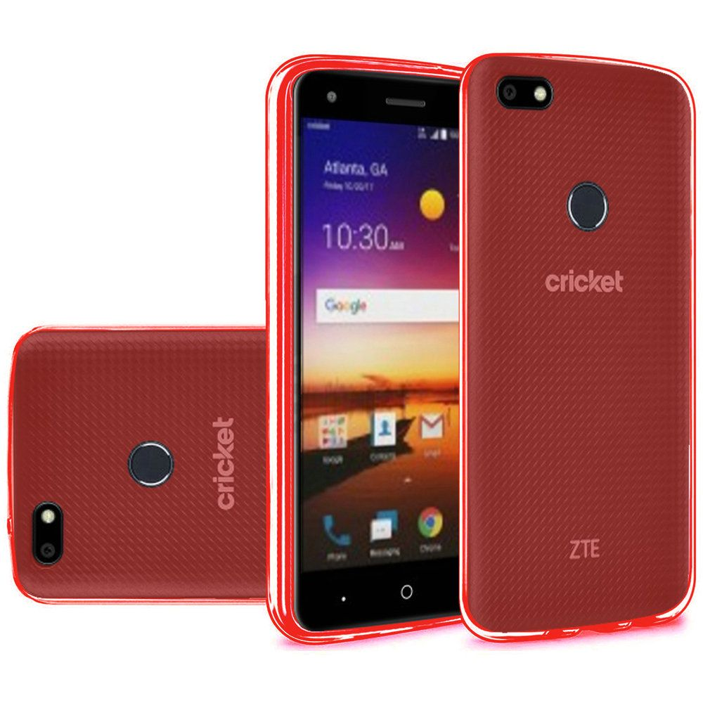 [REDshield] ZTE Blade X TPU Case, [Red] Slim & Flexible Anti-shock Crystal Silicone Protective TPU Gel Skin Case Cover