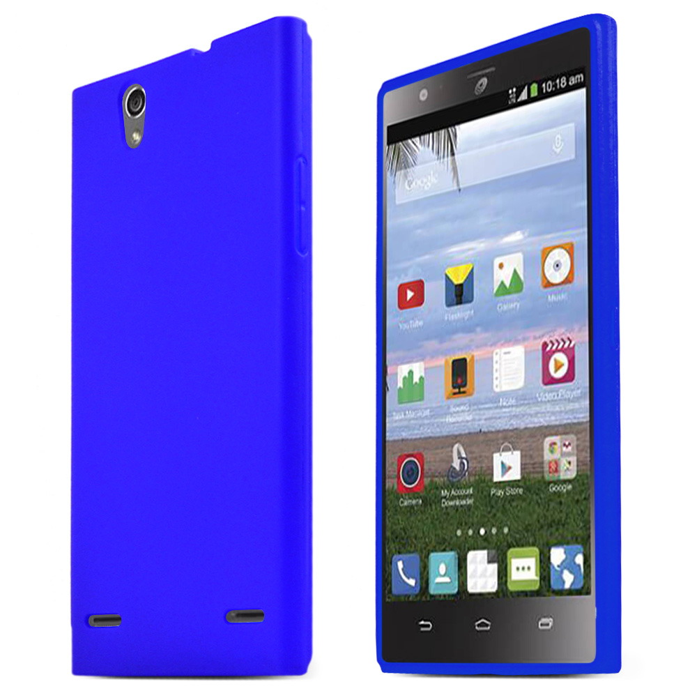 ZTE Lever Z936L Case, BLUE Slim & Flexible Crystal Silicone TPU Protective Case