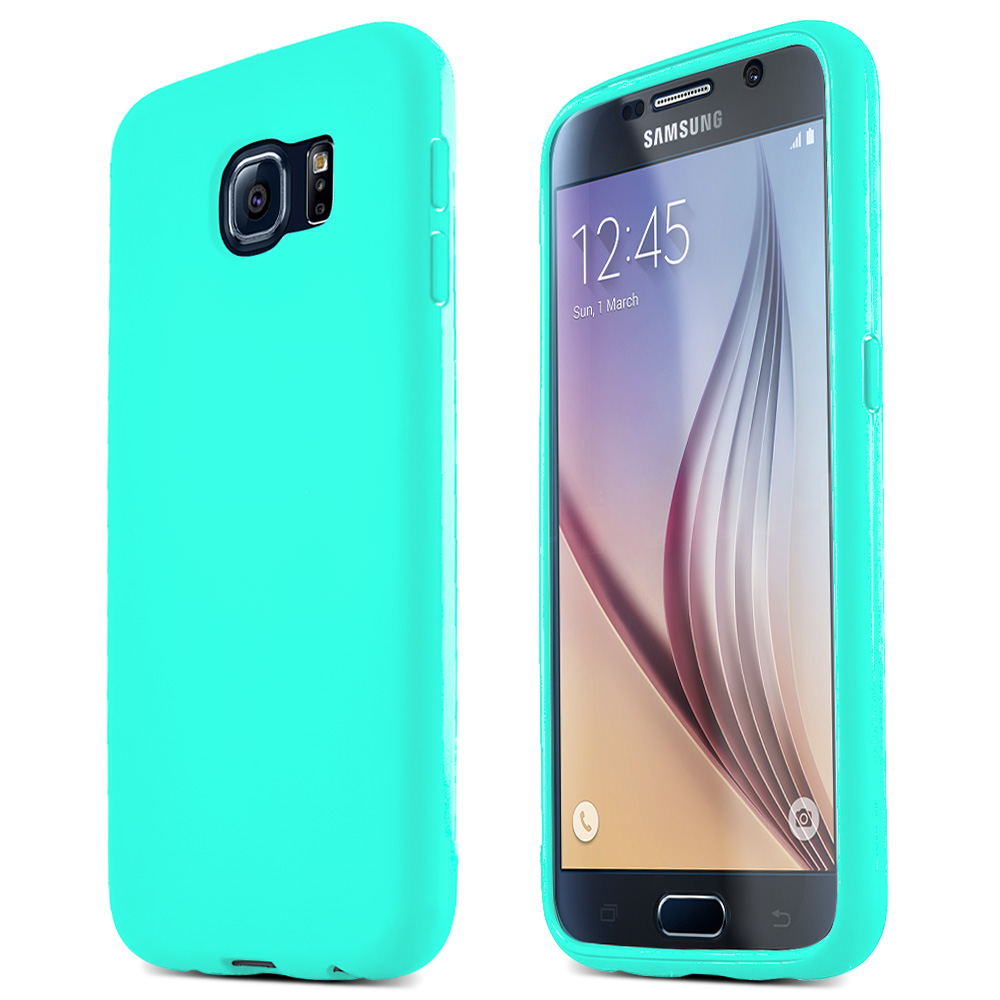 Samsung Galaxy S6 Case,  [Mint] Flip-Open Screen Protector Slim & Protective Case w/ Built-In Scratch Resistant Screen Protector