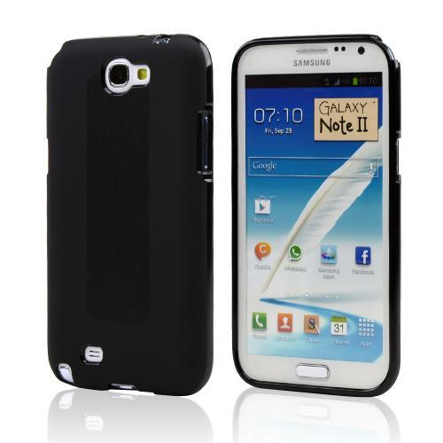 Black Super Premium Anti-Slip Crayon Series Crystal Silicone Case for Galaxy Note 2