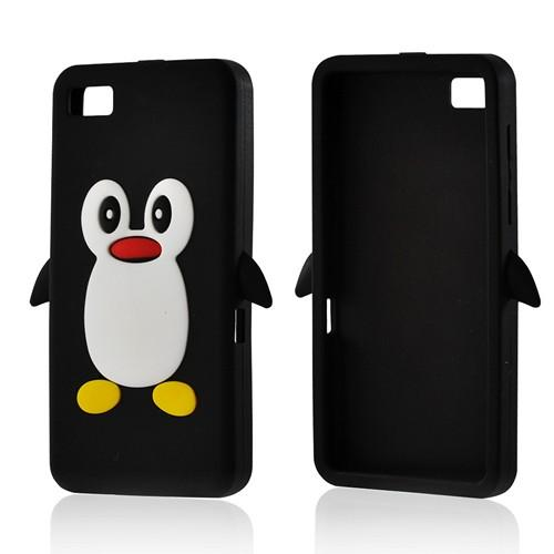 Black Penguin Silicone Case for Blackberry Z10