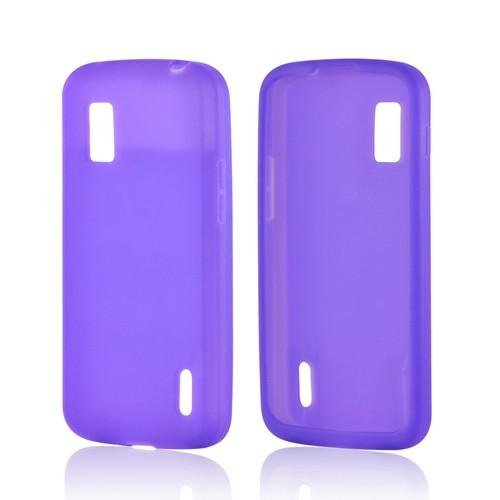 Purple Silicone Case for Google Nexus 4