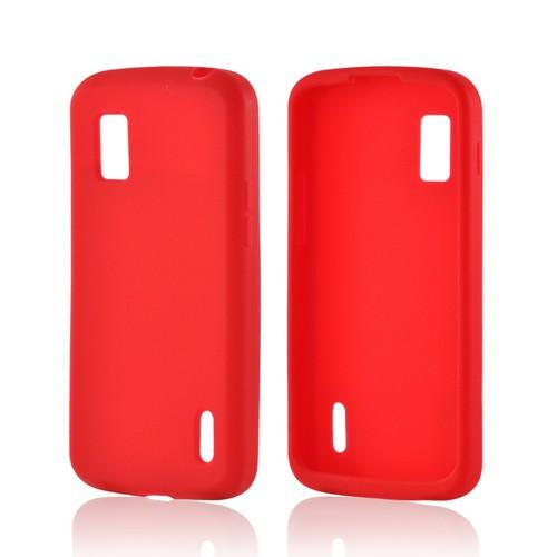 Red Silicone Case for Google Nexus 4