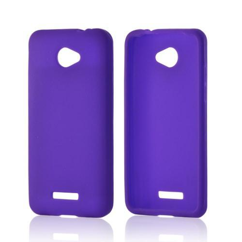 Purple Silicone Case for HTC Droid DNA