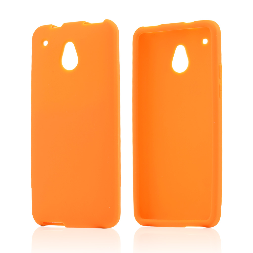 Orange Silicone Skin Case for HTC One Mini