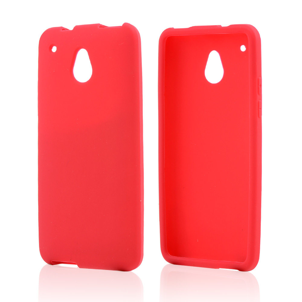 Red Silicone Skin Case for HTC One Mini