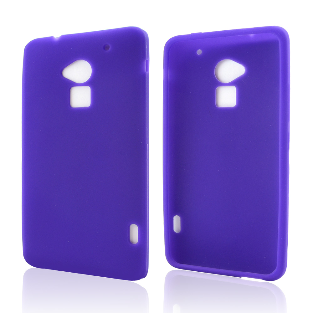 Purple Silicone Skin Case for HTC One Max