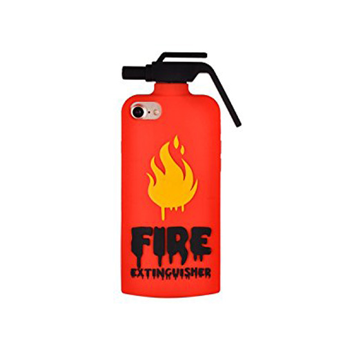 [REDshield] Apple iPhone 8 Plus / 7 Plus / 6S Plus / 6 Plus 3D Silicone Case, [Red Fire Extinguisher] Flexible Anti-shock Silicone Protective Skin Case Cover