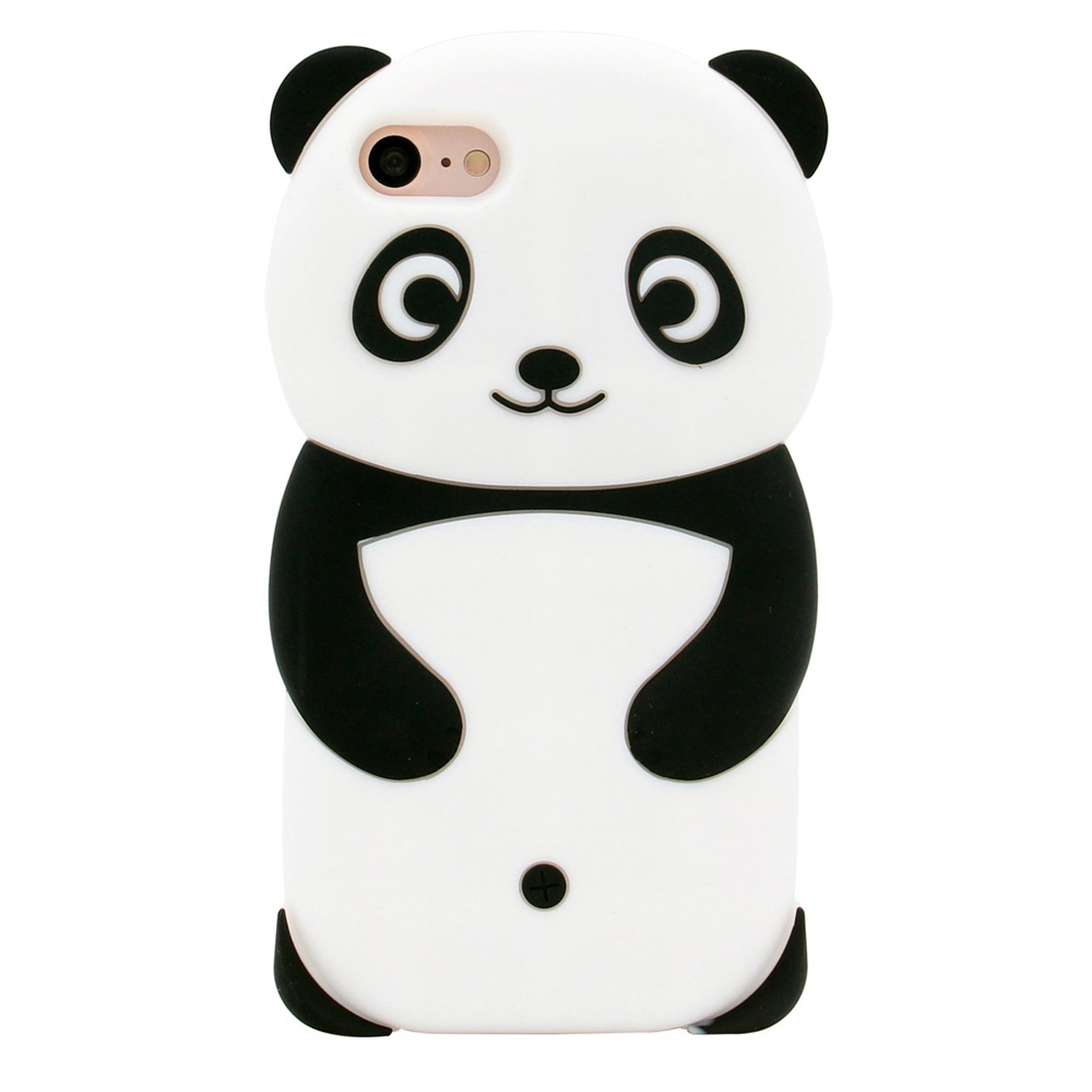 Made for Apple iPhone 8 / 7 / 6S / 6 Plus 3D Silicone Case, [Panda Bear] Flexible Anti-shock Silicone Protective Skin Case Cover by Redshield
