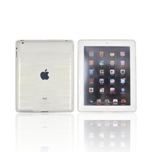 Apple iPad 2/3/4 Crystal Silicone Case - Stripes on White