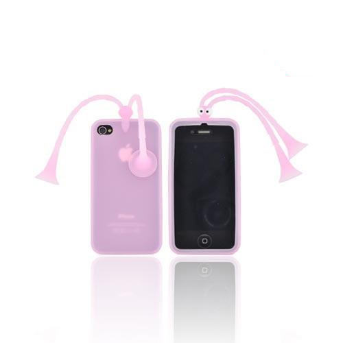 AT&T/ Verizon Apple iPhone 4, iPhone 4S Silicone Case w/ Stand - Pink Bug - XXIP4