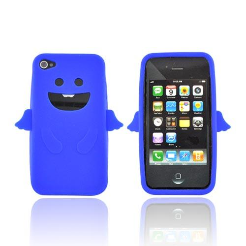 Apple Verizon/ AT&T iPhone 4, iPhone 4S Silicone Case - Blue Angel w/ Wings
