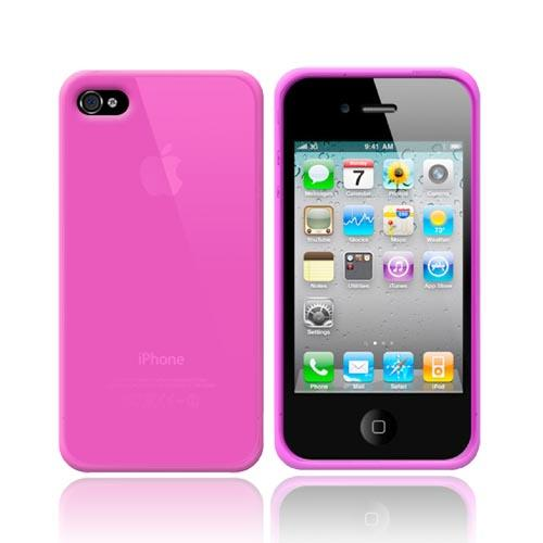 Hot Pink Silicone Skin Case for Apple iPhone 4/4S