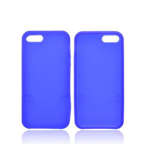 Apple iPhone SE / 5 / 5S  Case,  [Blue]  Slim & Flexible Anti-shock Crystal Silicone Protective TPU Gel Skin Case Cover