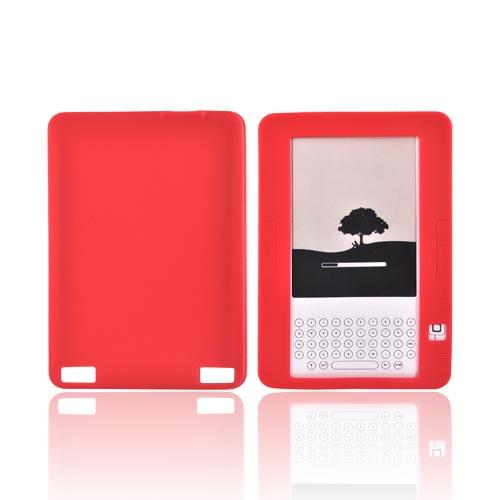 Amazon Kindle 2 Silicone Case - Red