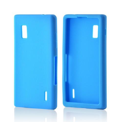 Blue Silicone Case for LG Optimus G (AT&T)