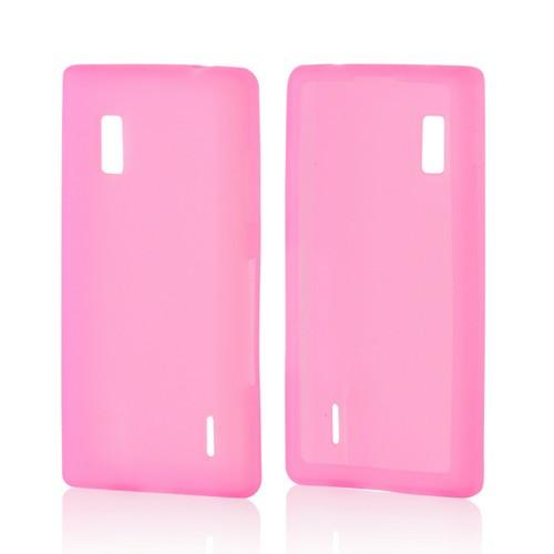 Hot Pink Silicone Case for LG Optimus G (AT&T)