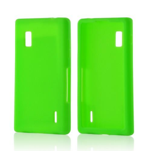 Neon Green Silicone Case for LG Optimus G (AT&T)
