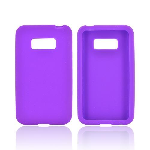 LG Optimus Elite Silicone Case - Purple