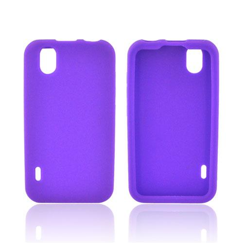 LG Marquee LS855 Silicone Case - Purple