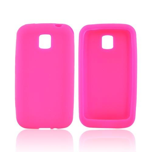 LG Optimus M MS690 Silicone Case - Hot Pink