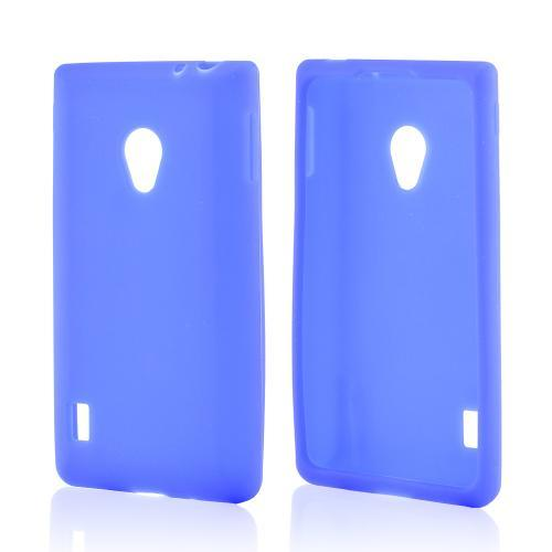 Blue Silicone Case for LG Lucid 2
