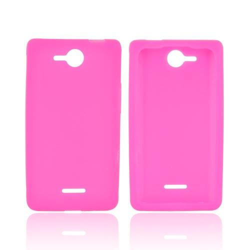 LG Lucid 4G Silicone Case - Hot Pink
