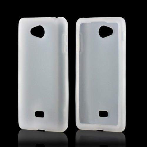 White Silicone Case for LG Spirit 4G (MetroPCS)