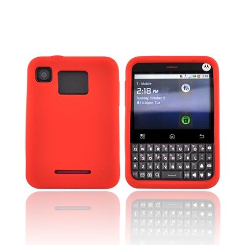 Motorola Charm MB502 Silicone Case - Red