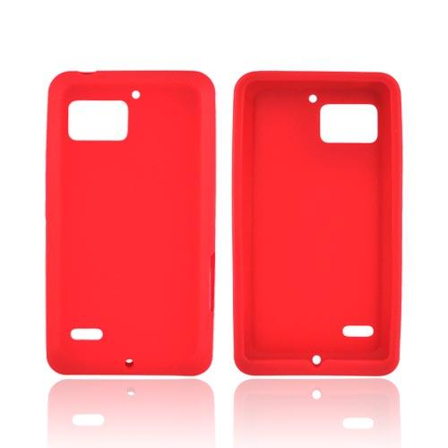Motorola Droid Bionic XT875 Silicone Case - Red