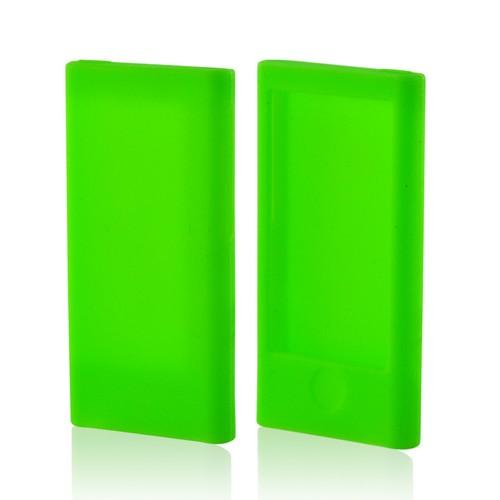 Neon Green Silicone Case for Apple iPod Nano 7