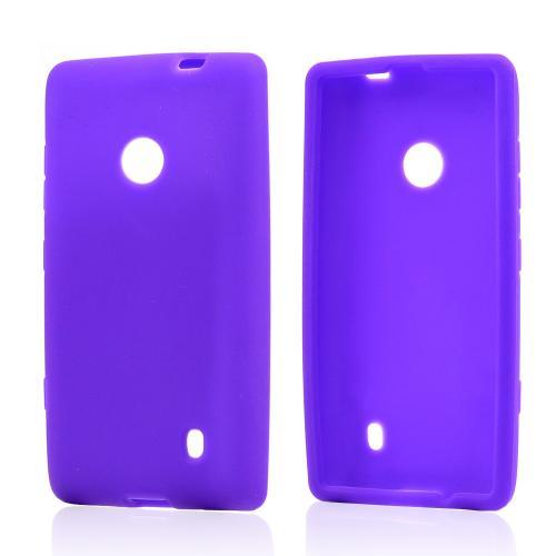 Purple Silicone Case for Nokia Lumia 521