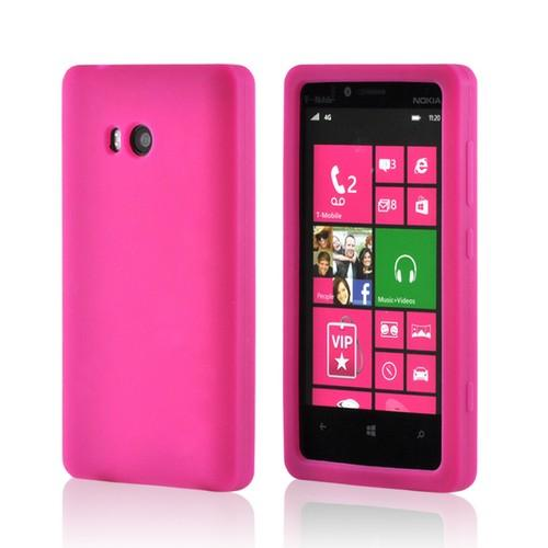 Hot Pink Silicone Case for Nokia Lumia 810