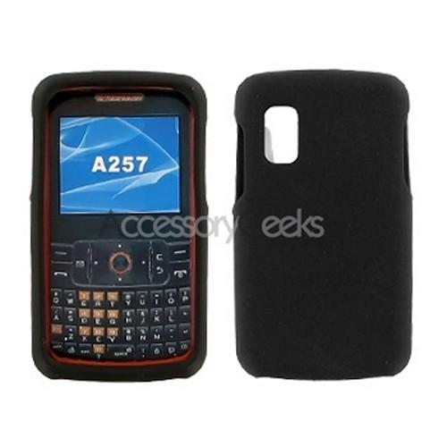 Samsung Magnet A257 Silicone Case, Rubber Skin - Black