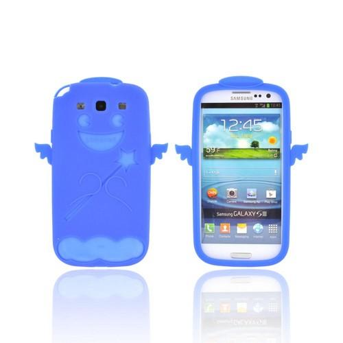 Samsung Galaxy S3 Silicone Case - Blue Angel w/ Wings