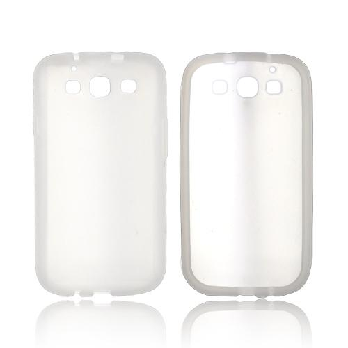 Samsung Galaxy S3 Silicone Case - Frost White