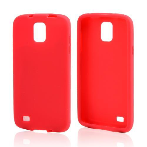 Red Silicone Skin Case for Samsung Galaxy S4 Active