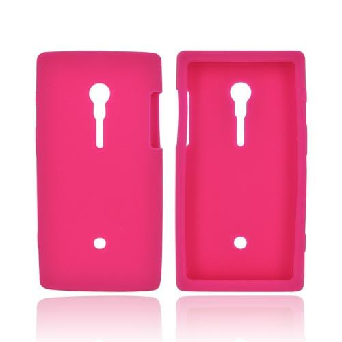 Sony Xperia Ion T28i Silicone Case - Hot Pink