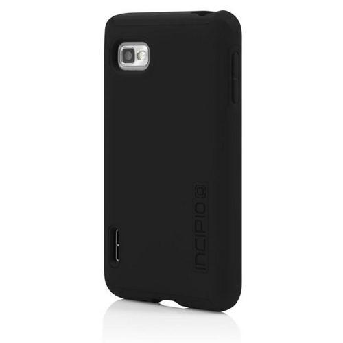 Incipio Black Dual PRO Series Rubberized Hard Case on Silicone for LG Optimus F3 - LGE-198