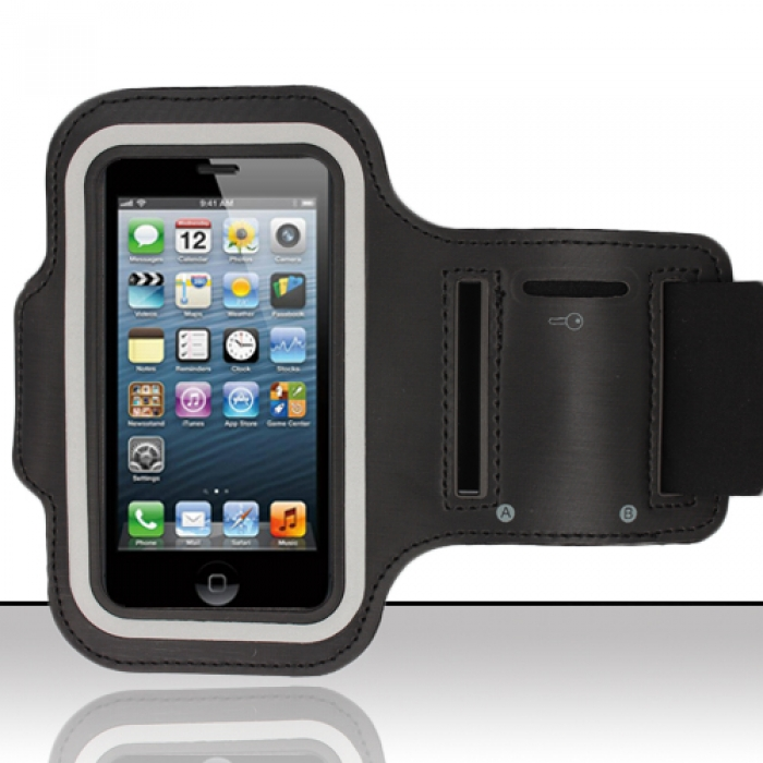 Made for Apple iPhone 6/ 6S/ 7 (4.7 inch) Black Sweat-Proof Neoprene Armband Case w/ Velcro Closure by Redshield
