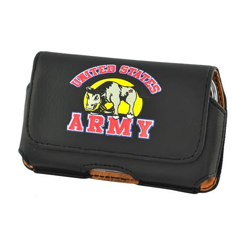 U.S. Army Horizontal Cell Phone Leather Holster Pouch Case (PUT SIZE)