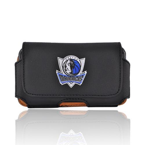 Licensed NBA Dallas Mavericks Horizontal Leather Holster Pouch - Black (PUT)