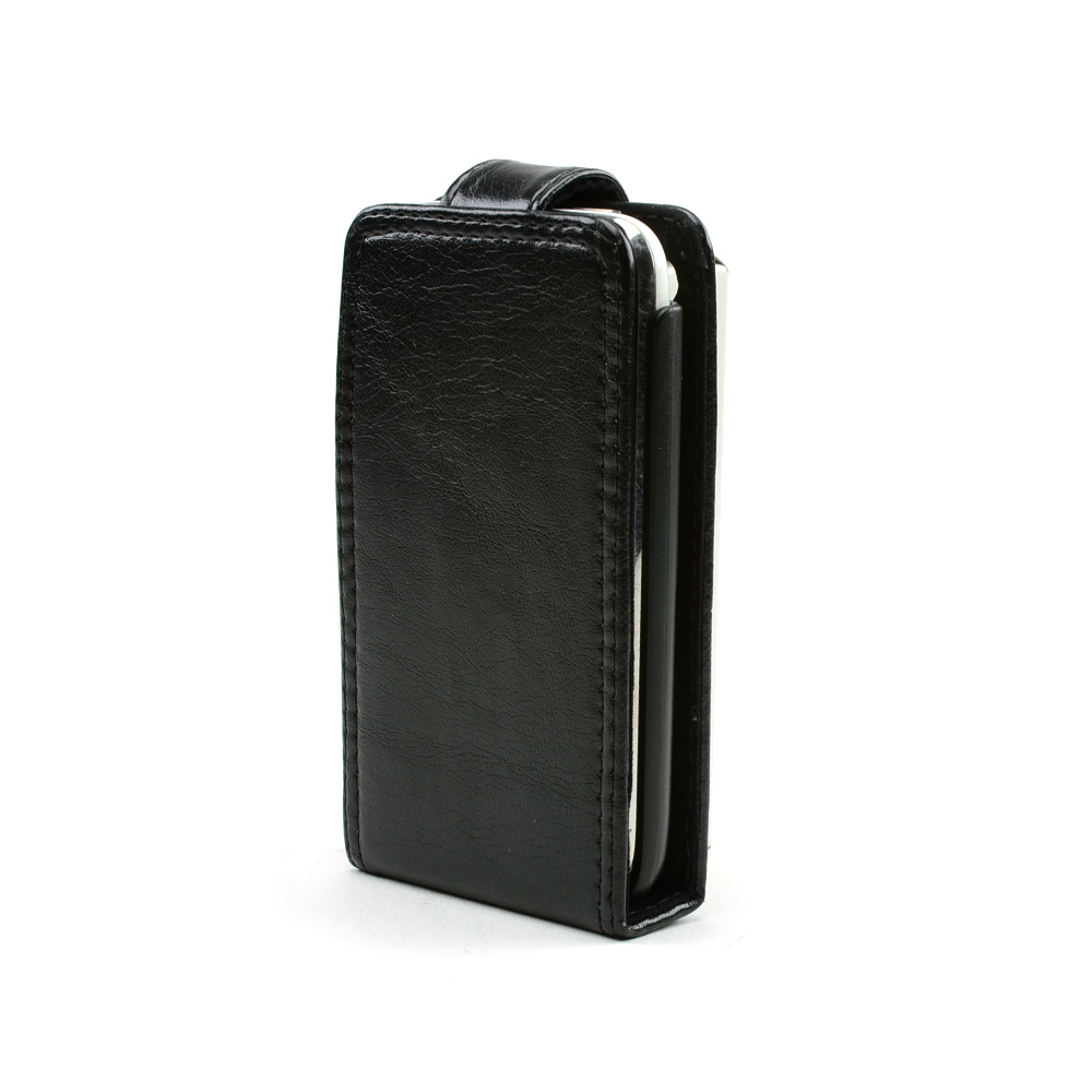 Made for Apple iPhone 3G Book-Type Vertical Leather Pouch w/ Pre-Installed Holster - Black by Redshield