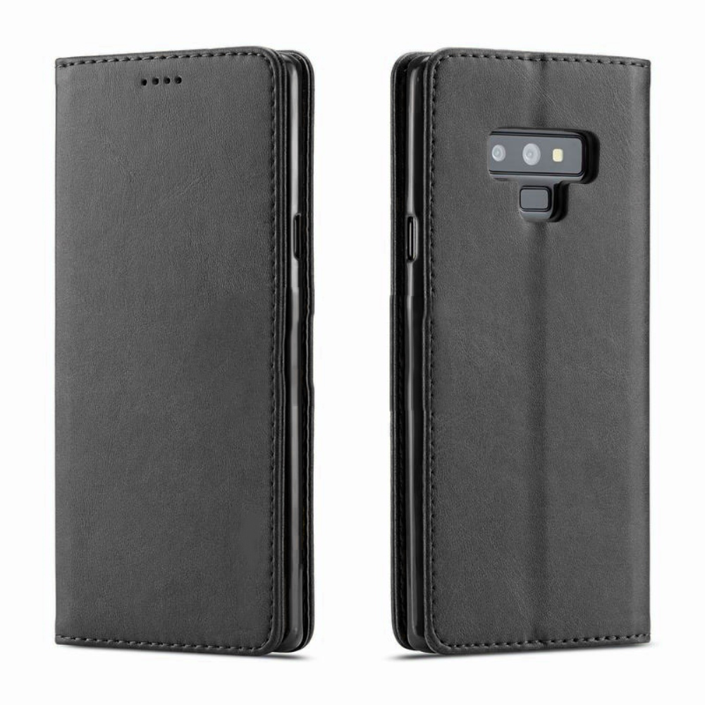 Samsung Galaxy Note 9 Wallet Case  REDshield [Black] Faux Leather Front Flip Cover Diary Wallet Case w/ ID Slots & Bill Fold
