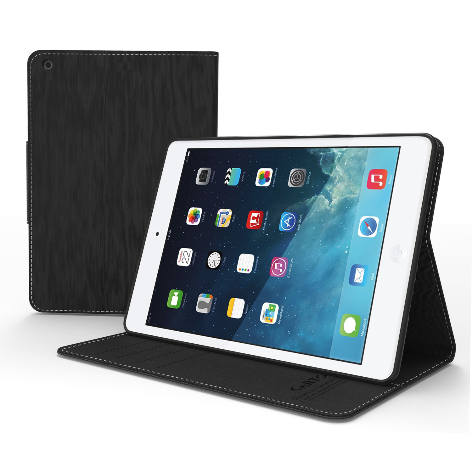 Apple iPad Mini Faux Leather Diary Flip Case w/ ID Slots, Bill Fold, Magnetic Closure for iPad Mini 1/2/3
