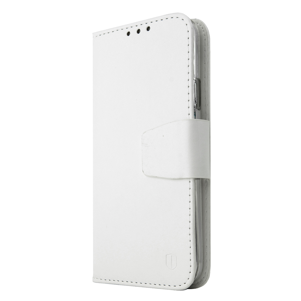 Galaxy S5 Wallet Case by REDShield | [White] Faux Leather TPU Case w/ Credit Card Slots, Wrist Strap, Stand Function + Free Screen Protector