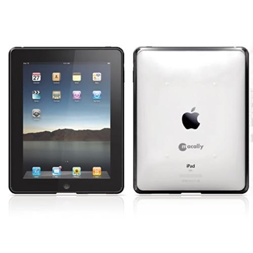 Original Macally Apple iPad (1st Gen) 1st Protective Case W/ Silicone Grip - Clear/Black
